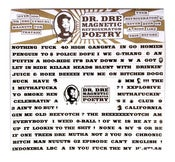 Image of DR. DRE MAGNETIC REFRIGERATOR POETRY