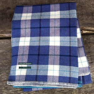 Image of coldatnight plaid blanket in heather