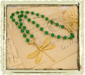 Jewelry: &quot;Green Rosary Dragonfly&quot;