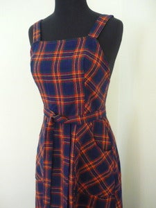 Image of 70s Lanz plaid maxi dress 