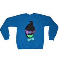 Image of $HO$HA FLIPPED CREWNECK - DEADLY BLUE
