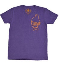 Image of V-NECK $HO$HA OUTLINE - PURPLE