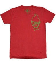 Image of V-NECK $HO$HA OUTLINE - RED