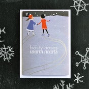 "Image of ""Frosty Noses, Warm Hearts"" Holiday Card"