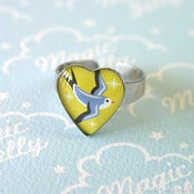 Image of Little Swallow Heart Ring