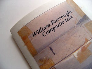 Image of William S Burroughs  Composite text