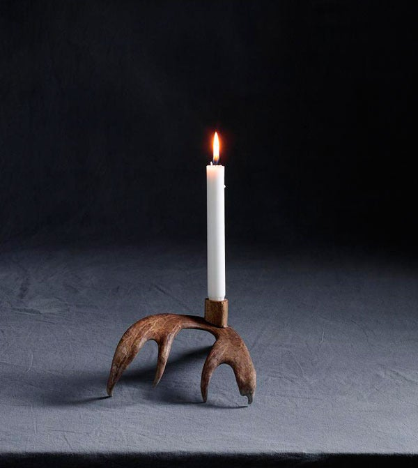 Image of Reindeer Candleholder, (1 Arm/Natural)