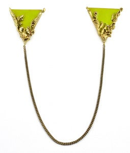 Image of Artifice Collar Tips Leaf/Brass