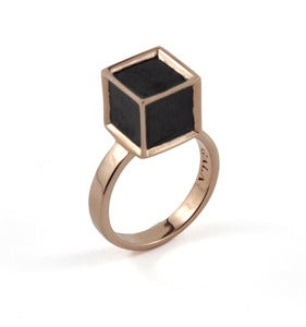 Image of Semblance Ring Ebony/Rose Gold