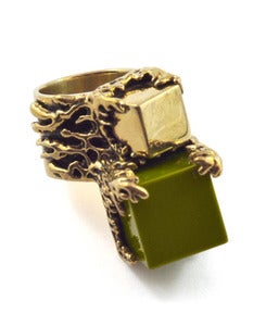 Image of Effloresce Ring Leaf/Brass