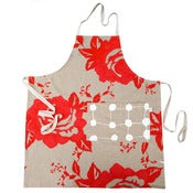 Image of apron in rose scarlet