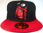 Image of Red fitted