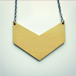 Image of Chevron // Chunky Hand-painted Wooden Chevron Pendant