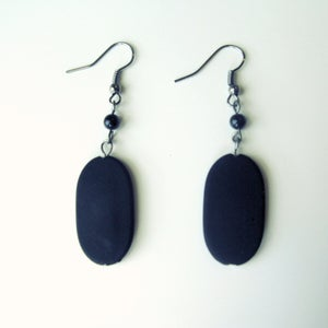 Image of Black Solistone Earrings