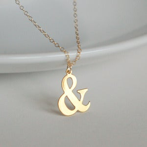 Image of Gold Ampersand Charm Necklace