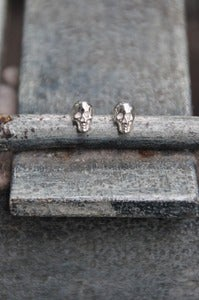 Image of Spirit Fine Skull Earrings