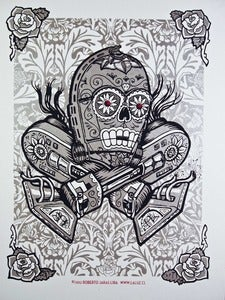 Image of La Ca3PO - three color screenprint