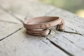Image of KIN leather wrap bracelet