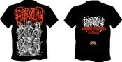 Image of EPICARDIECTOMY Abhorrent stench tour Orange/Green Logo T-shirt