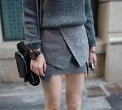 Image of Moment Wrap Skirt in Grey