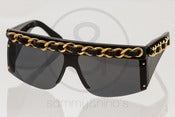 Image of Chanel 01455 Chain Black :: Vintage Sunglasses