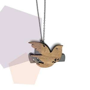 Image of Bird and Cloud Necklace