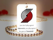 Image of  Portland Trail Blazers NBA Necklace
