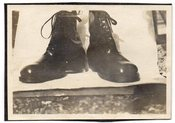 Image of A PAIR OF SPIFFY BOOTS VINTAGE SNAPSHOT PHOTO