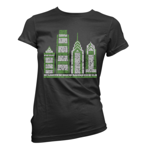 Image of Women's Philly Skyscraper Tee (Black/Green)
