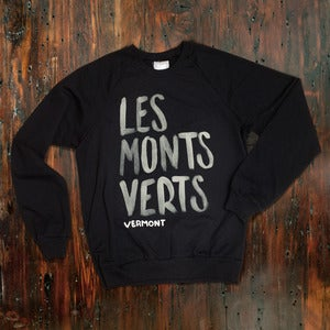 Image of Les Monts Verts Crewneck - Black