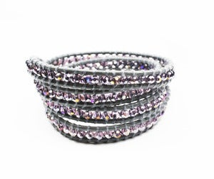 Image of Imperial Crystal &amp; Leather Wrap Bracelet