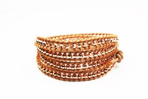 Image of ANTIQUE Leather Wrap Bracelet