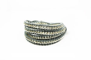 Image of PETROL Leather Wrap Bracelet