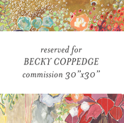 "Image of commission flowers for becky 30""x30"""