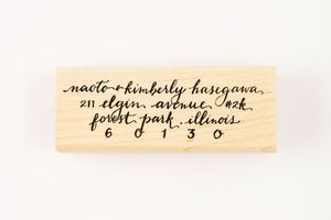 Image of CUSTOM FULL CALLIGRAPHY ADDRESS STAMP