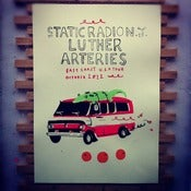 Image of Arteries/Static Radio NJ/Luther East Coast tour poster