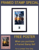 Image of Father's Day Special: Framed Stamp Set + FREE Poster