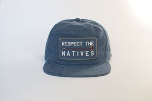 Image of RESPECT THE NATIVES Snap Back - Blue