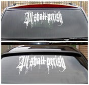 "Image of ALL SHALL PERISH - Massive 17"" x 8"" Vinyl Decal"