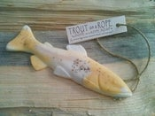 Image of Trout Soap on a Rope - Lemongrass