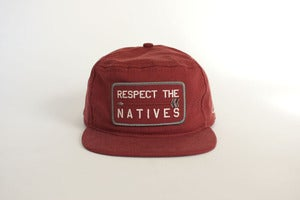Image of RESPECT THE NATIVES Snap Back - Brick