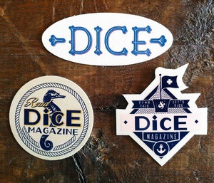 Image of DICE ALL AT SEA STICKER PACK