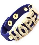 Image of Hope Rhinestone Spacer Bracelet (Red or Dark Blue)