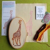 Image of LOVE YOURSELF GIRAFFE : DIY EMBROIDERY KIT