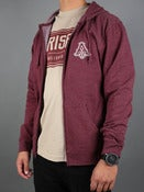 Image of LOGO ZIP UP (MAROON HEATHER)