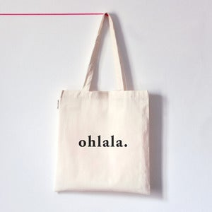 Image of OHLALA . Tote bag typo