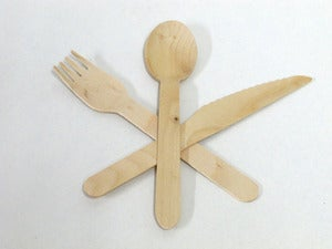 Image of Eco Chic Wooden Cutlery