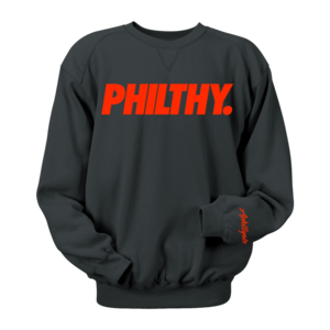 Image of PHILTHY. Crewneck (Black/Red)