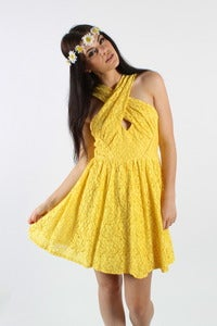 Image of SUNNY SIDE LACE SKATER DRESS 