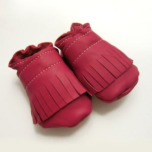 Image of Pink Fringe Baby Booties